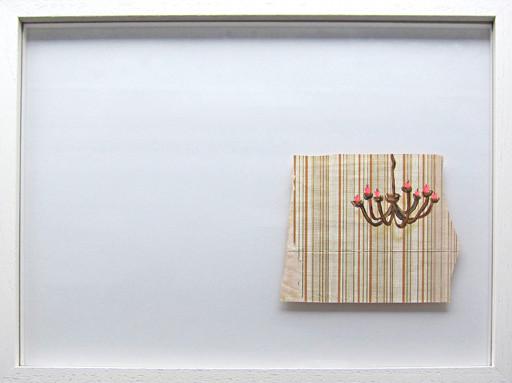 Wohnblock-Interieur #3 _ Acryl / Bleistift auf Tapete  | 30x40cm (Rahmen), 2013