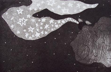 Sternenrülpser _ Aquatinta | Platte 13,5x20cm, 2005