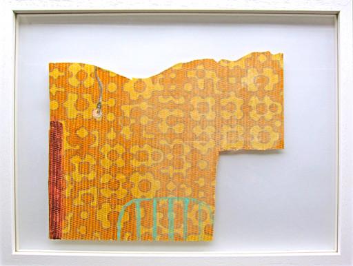 Wohnblock-Interieur #1 _ Acryl / Bleistift auf Tapete  | 30x40cm (Rahmen), 2013