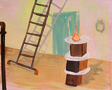 Contemporary Art (Uli's-Kuchen) _ Acryl auf Leinwand | 24x30cm, 2014