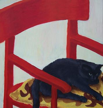 Micki _ Öl auf Holz | 48x47cm, 2003