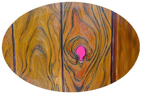 Loch _ Öl / Acryl auf Leinwand | 25x35cm oval, 2011