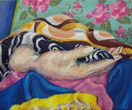 Stilleben mit Stoffen _ Öl auf Leinwand | 25x30cm, 2007