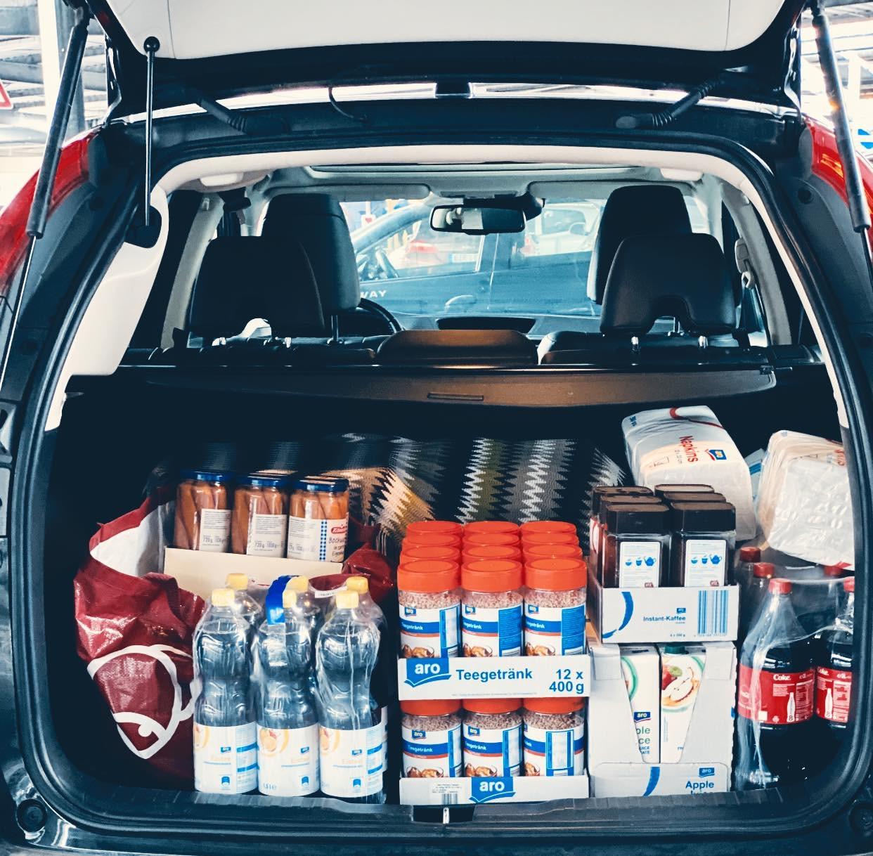 Der Kofferraum ist voll!