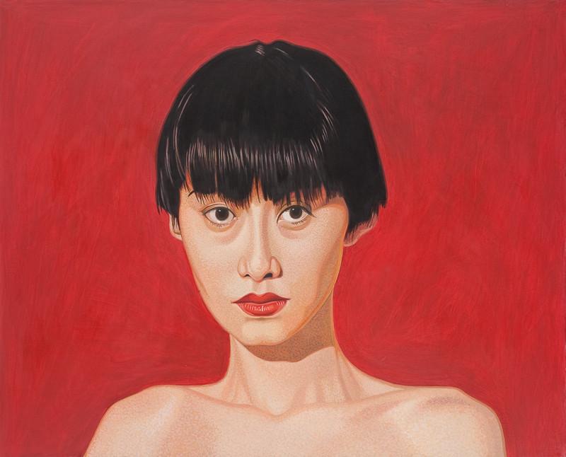 Auf rot | 2012 | 80 x 100 cm | Acryl auf Baumwolle (verkauft)