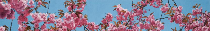 Blüten in Moabit | 2011 | 30 x 200 cm | Acryl auf Baumwolle