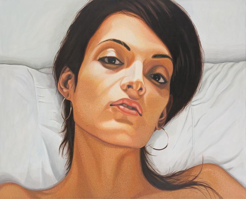 Im Bett | 2013 | 80 x 100 cm | Acryl auf Baumwolle