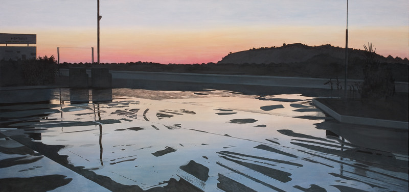 Auf dem Weg nach Izmir | 2010 | 90 x 190 cm | Acryl auf Baumwolle