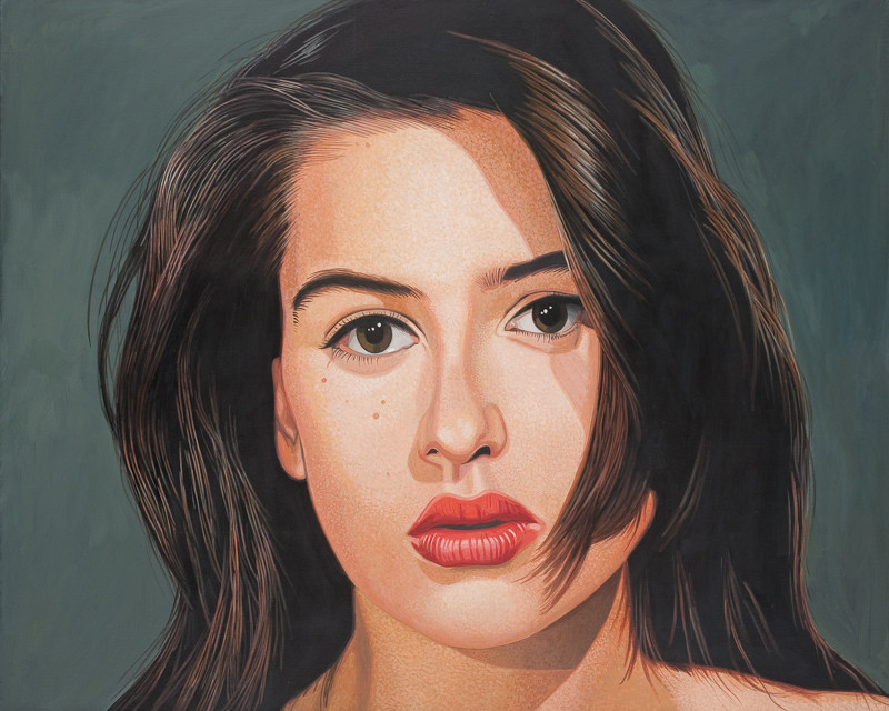 Ohne Titel | 2012 | 80 x 100 cm | Acryl auf Baumwolle (verkauft)