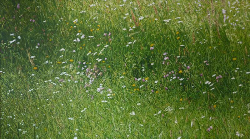 Streublumen | 2015 | 100 x 180 cm | Acryl auf Baumwolle