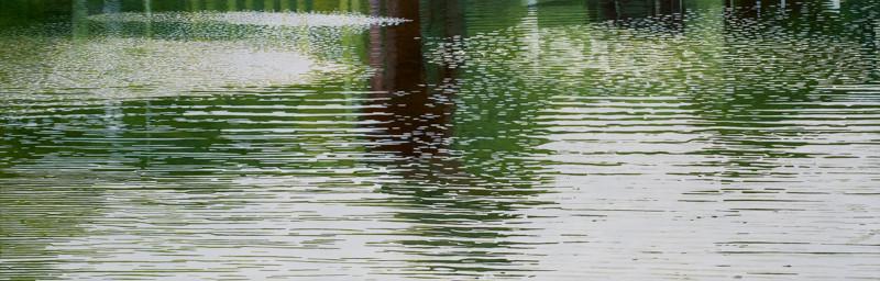 Grüner See | 2009 | 65 x 200 cm | Acryl auf Baumwolle
