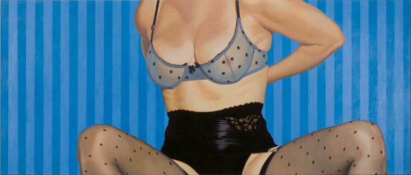 Ausziehen | 2008 | 80 x 190 cm | Acryl auf Baumwolle