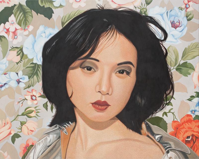Vor Blütentapete | 2012 | 80 x 100 cm | Acryl auf Baumwolle (verkauft)