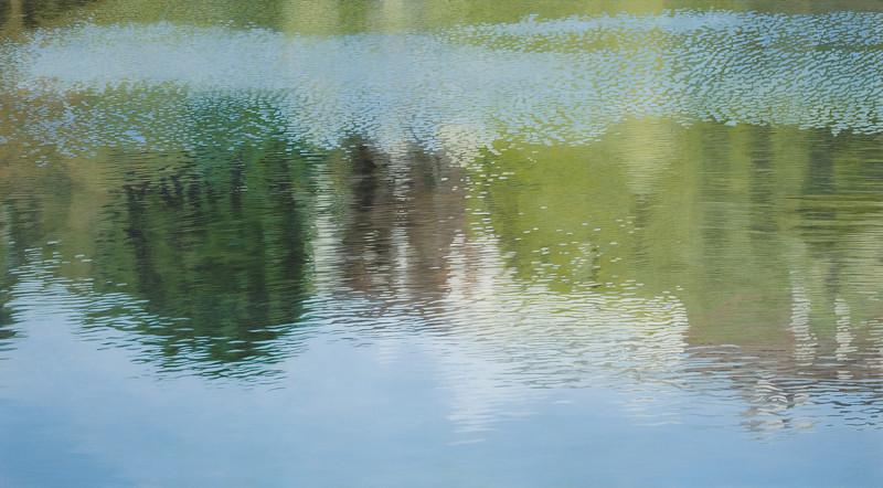 Spiegelung | 2006 | 100 x 180 cm | Acryl auf Baumwolle (verkauft)
