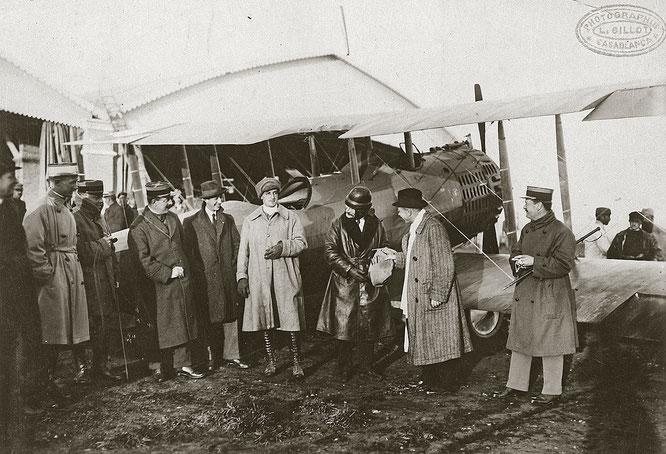Départ de Casablanca du pilote Lemaitre et de PG Latécoère avec le premier courrier des postes chérifiennes vers la France. ©Fondation Lacoère