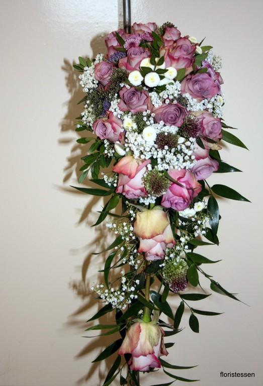 Brautstrauß mit der Rosensorte Memory Lane