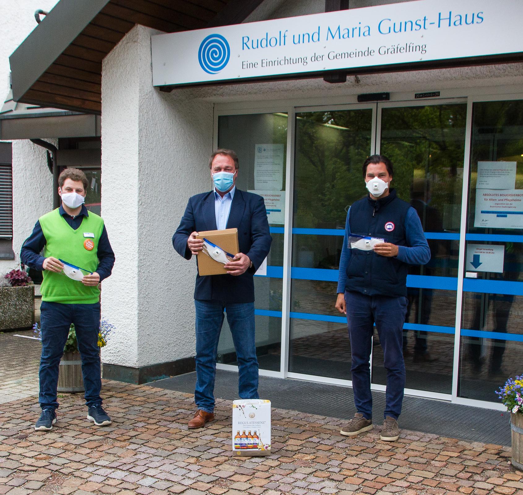 Wir spendeten 30 FFP3 Masken an das Rudolf und Maria Gunst Haus Altenheim in Gräfelfing