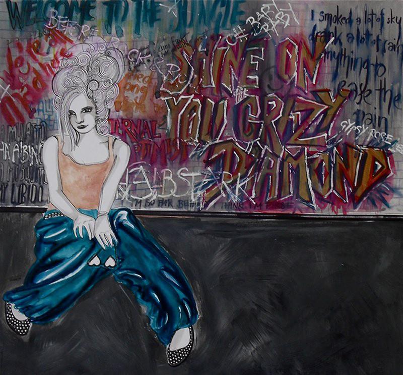 """""""Street Aristocrat"""", acrylics & felt tip pen, 2011"""
