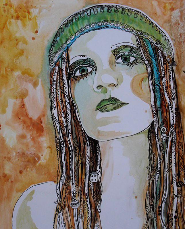 """""""Self"""", acrylics & ink, 2012"""