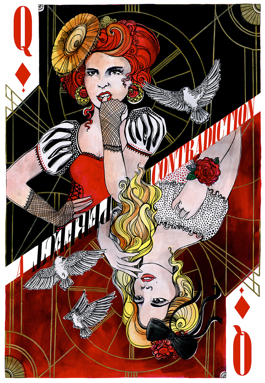 Entry for Paloma Faith poster competition (Talenthouse) watercolours & digital editing, 2015