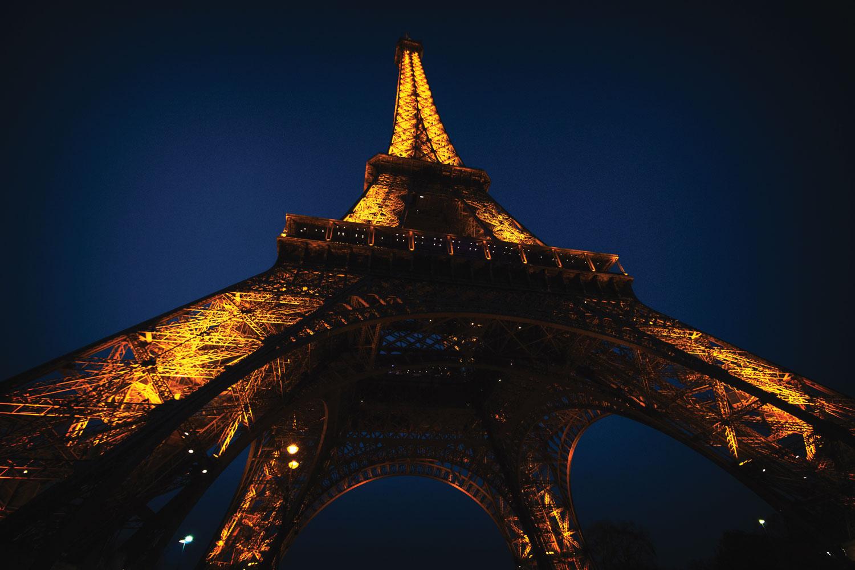 Stad Parijs Eiffeltoren kleur