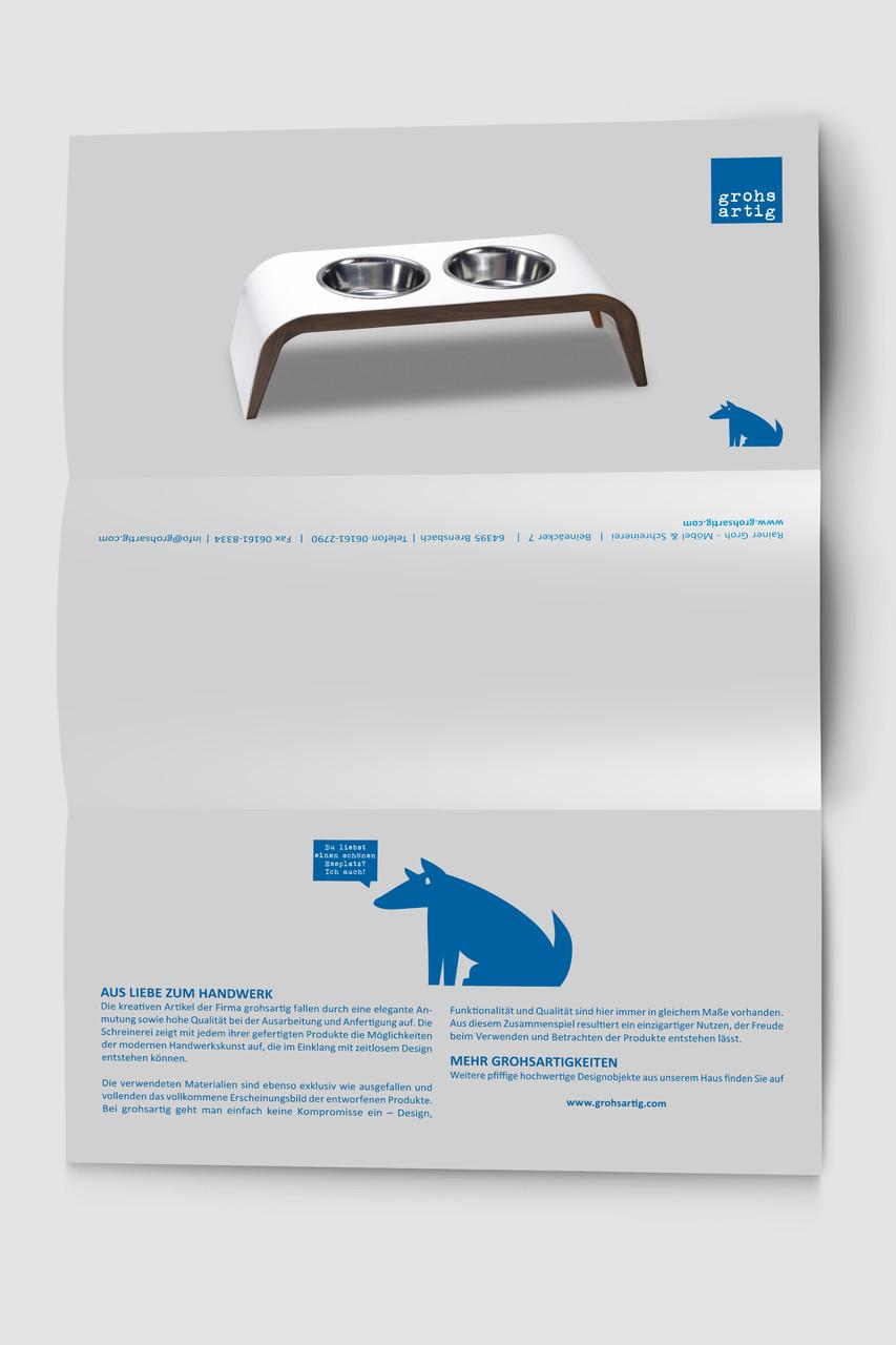 Logo, Logoentwicklung, Grafikdesign, Grafik, Gestaltung, Illustration, Grohsartig Flyer