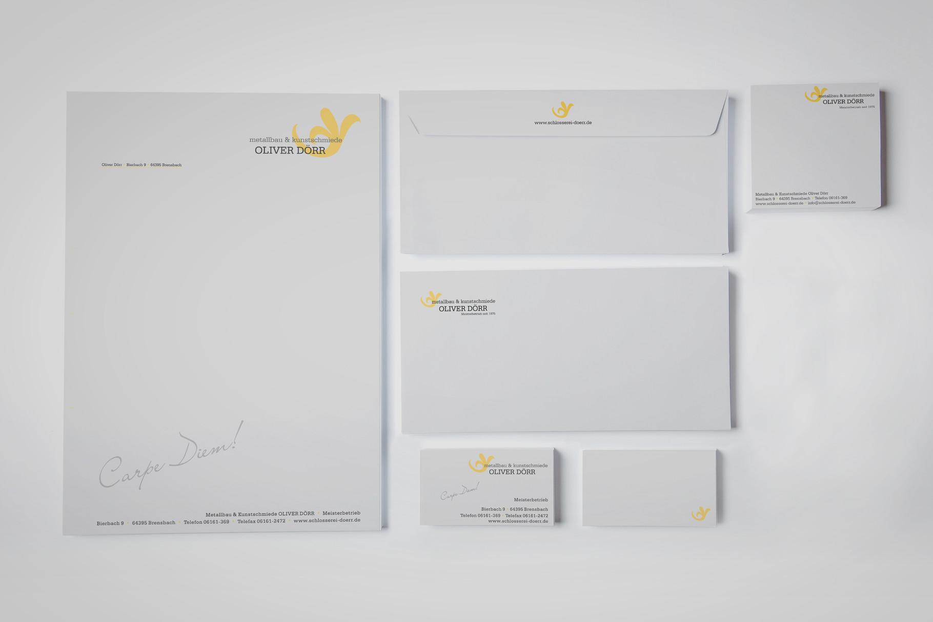 Logo, Logoentwicklung, Grafikdesign, Grafik, Gestaltung, Metallbau Dörr Geschäftsausstattung