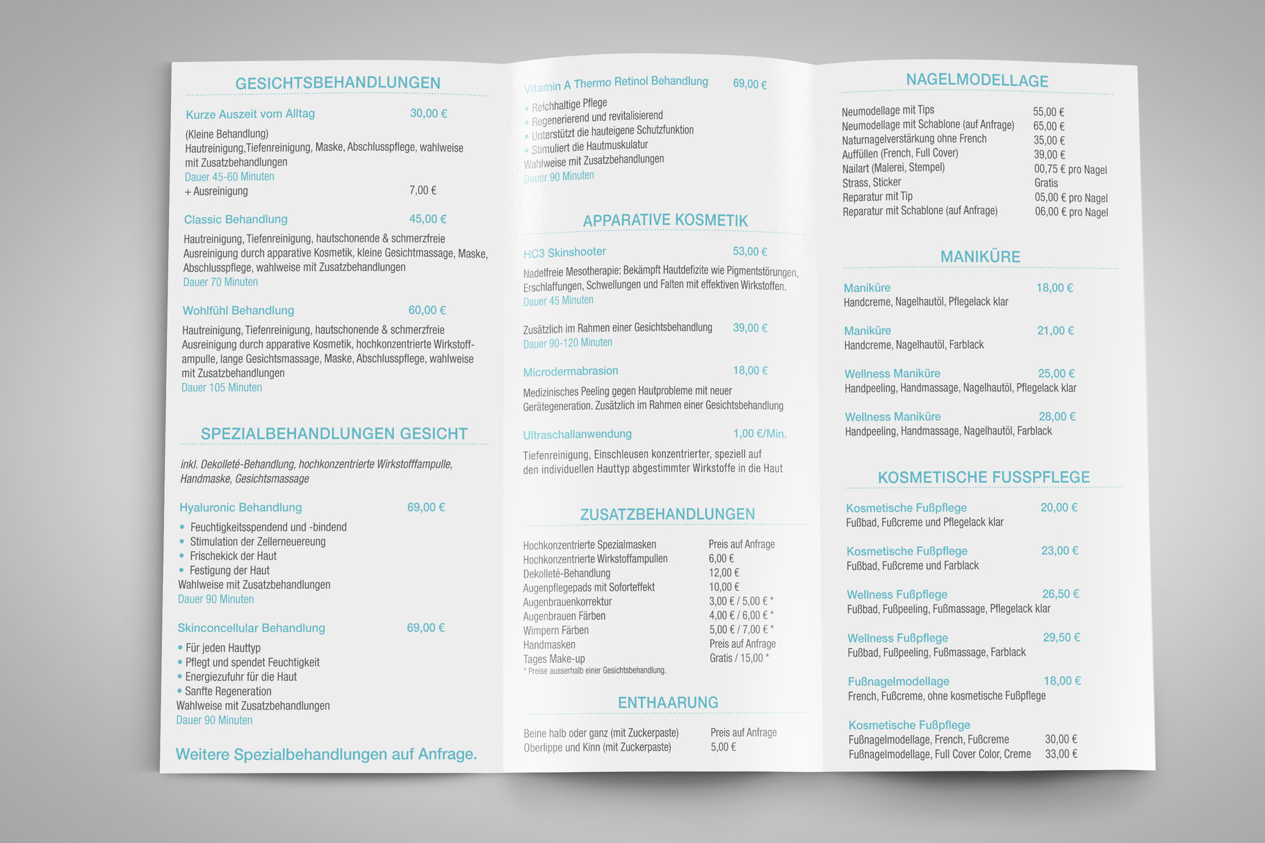 Corporate Design, Logoentwicklung, Logo, Grafikdesign, Grafik, Gestaltung, Beautyloft Preisliste