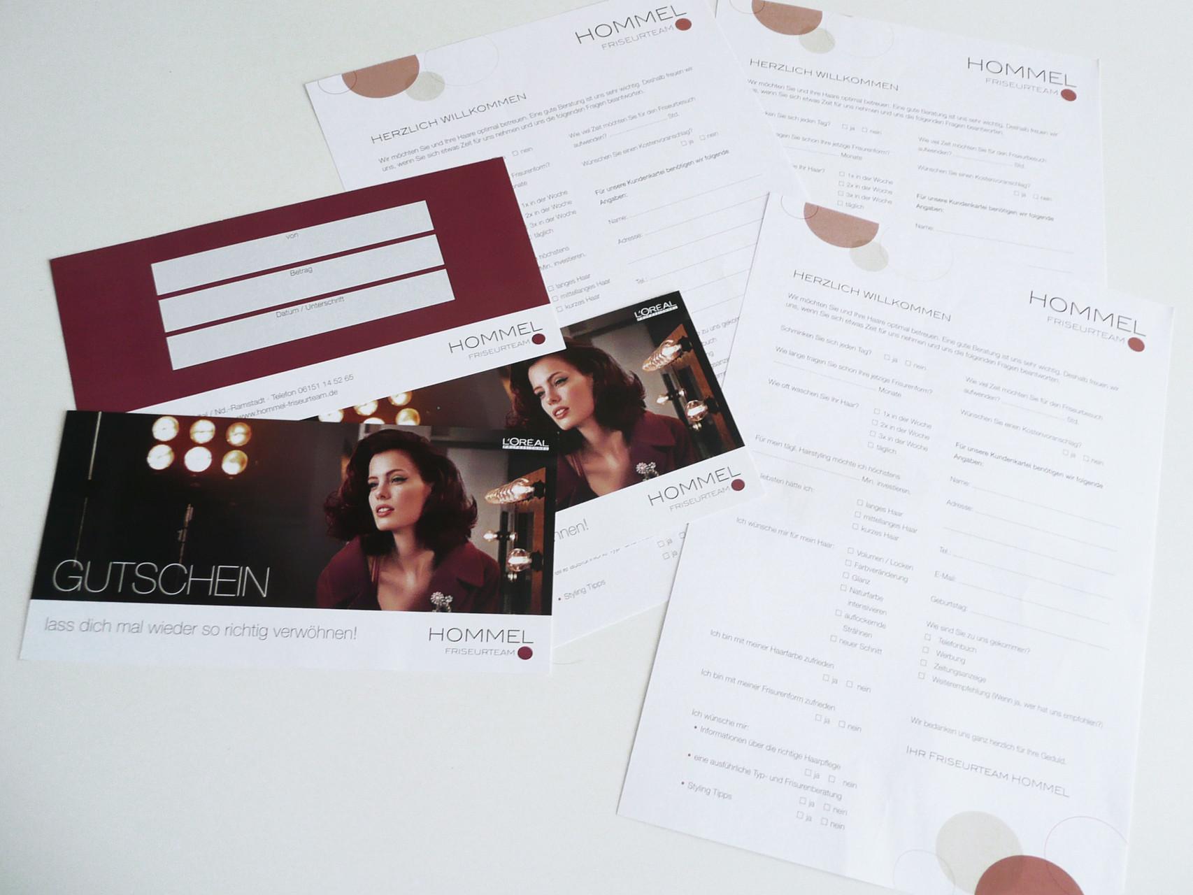 Corporate Design, Logoentwicklung, Logo, Grafikdesign, Grafik, Gestaltung, Hommel Gutschein