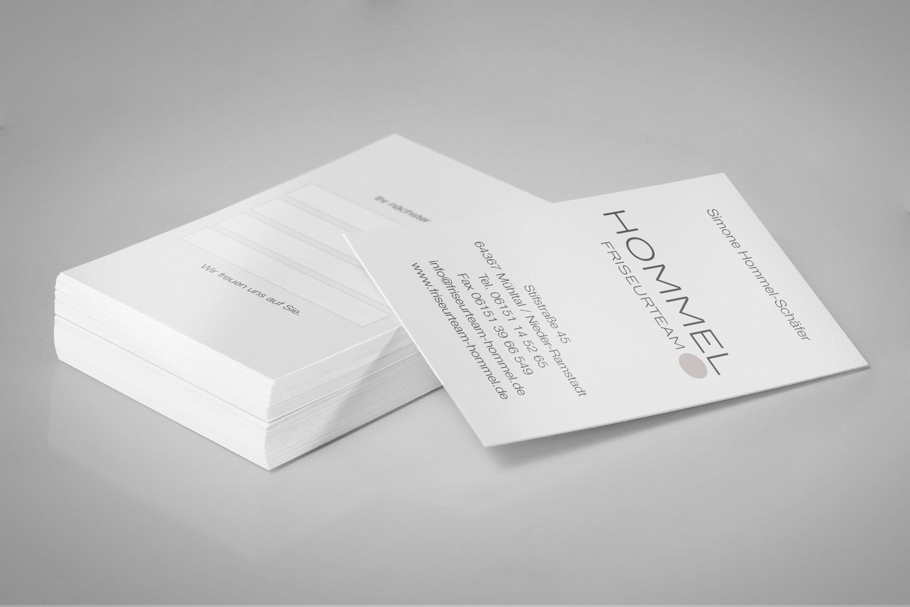 Corporate Design, Logoentwicklung, Logo, Grafikdesign, Grafik, Gestaltung, Hommel Visitenkarte