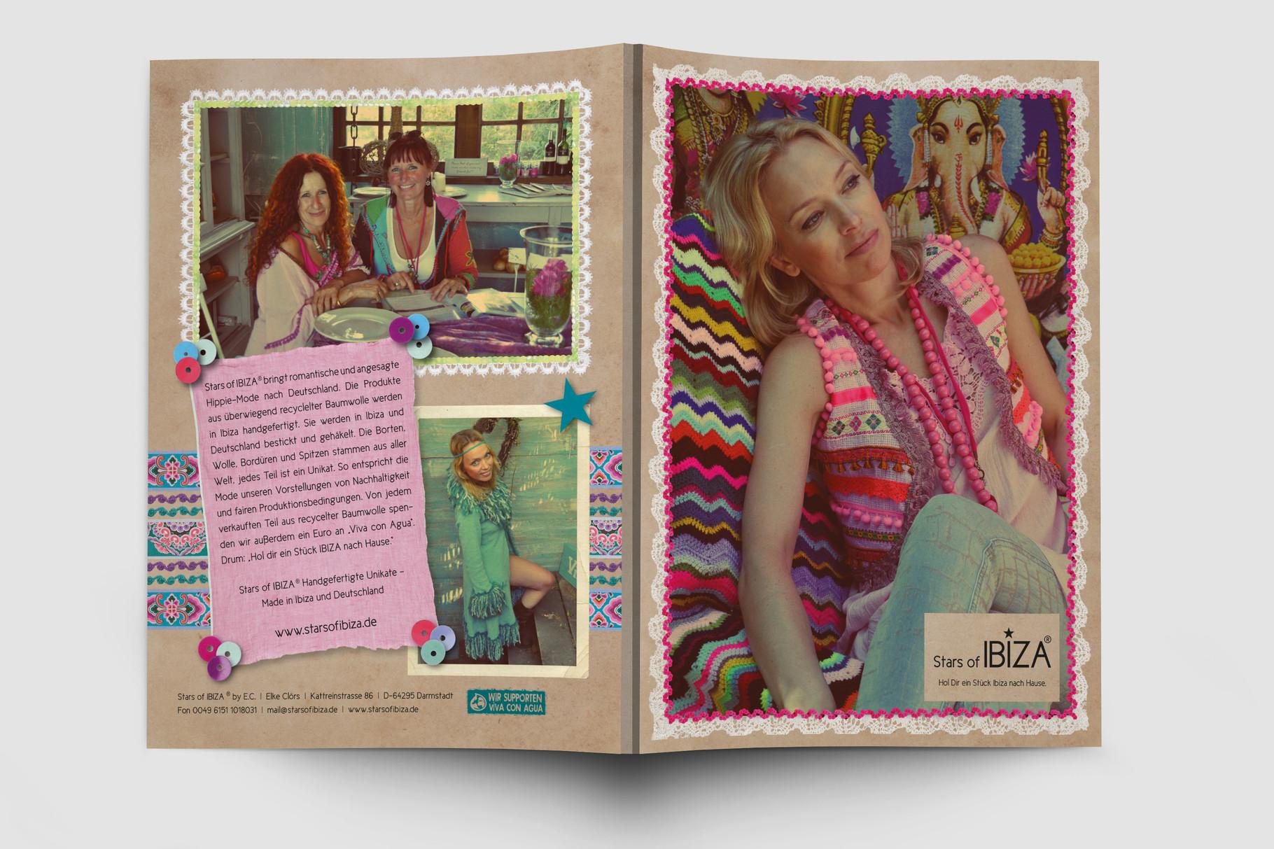 Logo, Logoentwicklung, Grafikdesign, Grafik, Gestaltung, Illustration, Stars of Ibiza Broschüre
