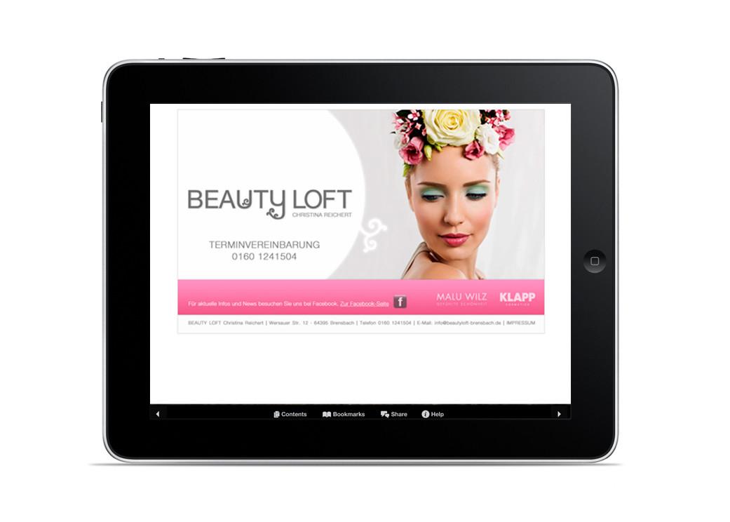 Corporate Design, Logoentwicklung, Logo, Grafikdesign, Grafik, Webdesign, Gestaltung, Beautyloft Landingpage, Website