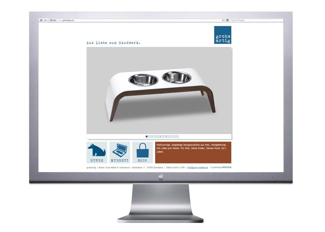 Logo, Logoentwicklung, Grafikdesign, Grafik, Gestaltung, Illustration, Grohsartig Landingpage