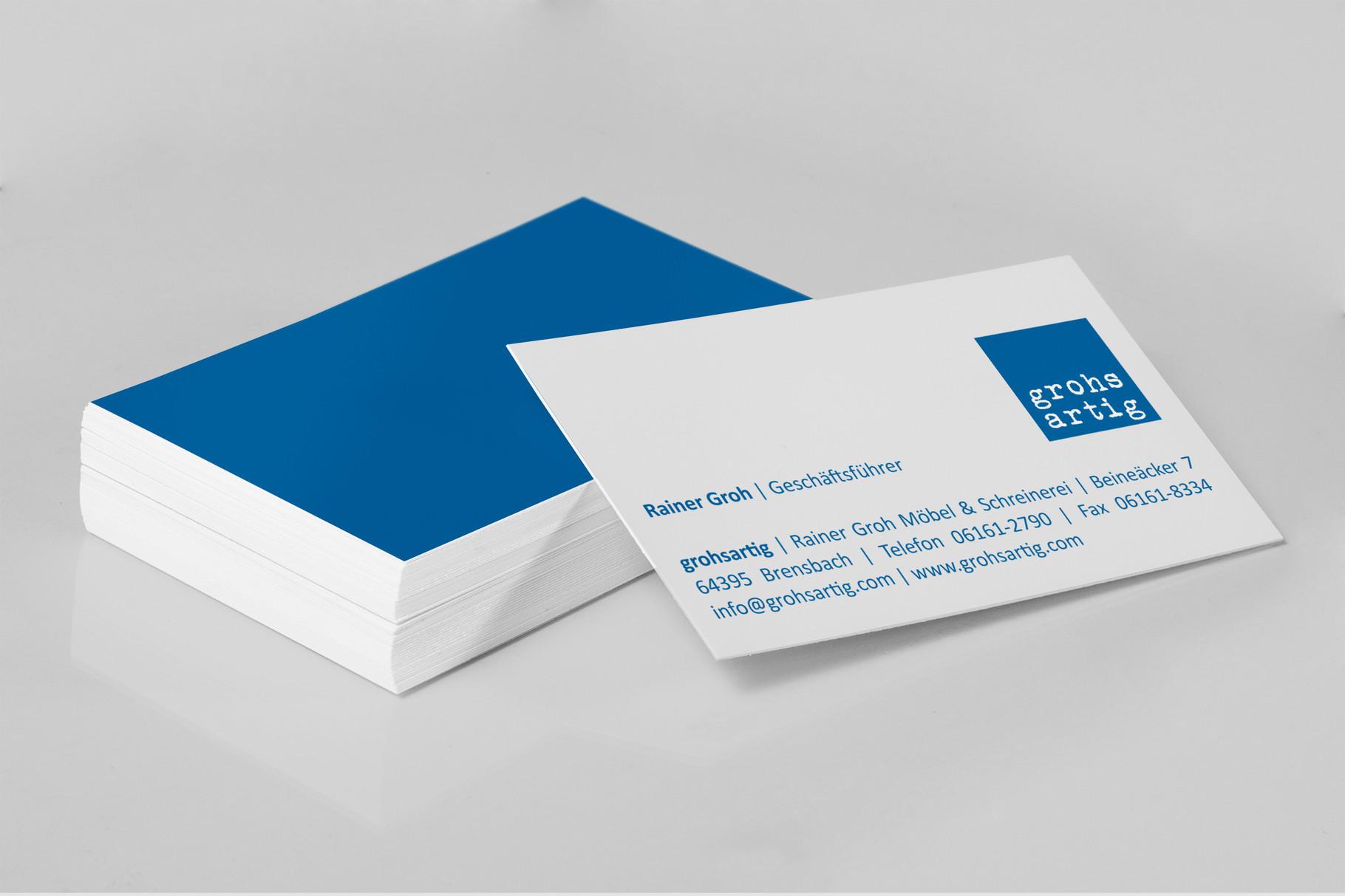 Logo, Logoentwicklung, Grafikdesign, Grafik, Gestaltung, Illustration, Grohsartig Visitenkarten