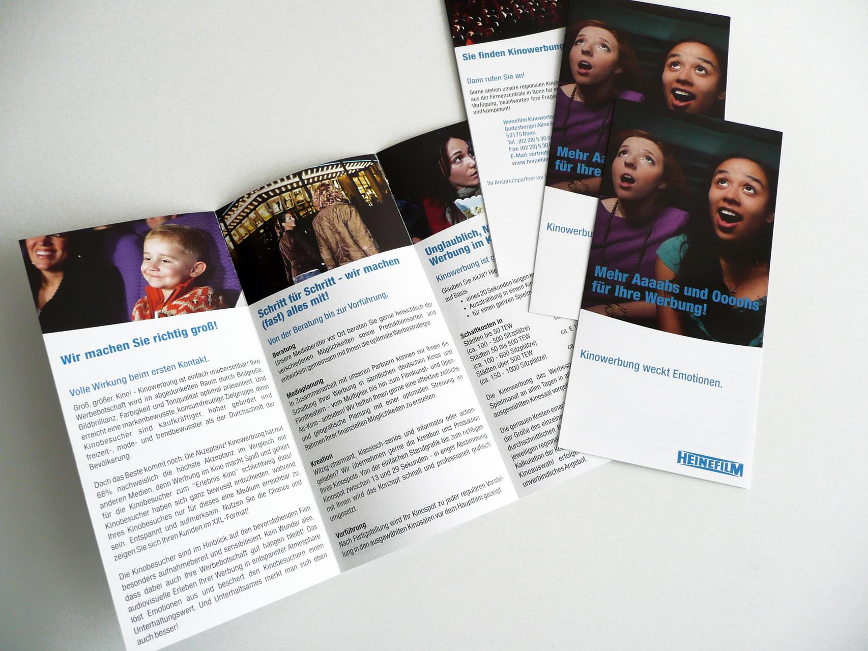 Grafikdesign, Grafik, Gestaltung, Heinefilm Kampagne Ahh und Ohh, Flyer