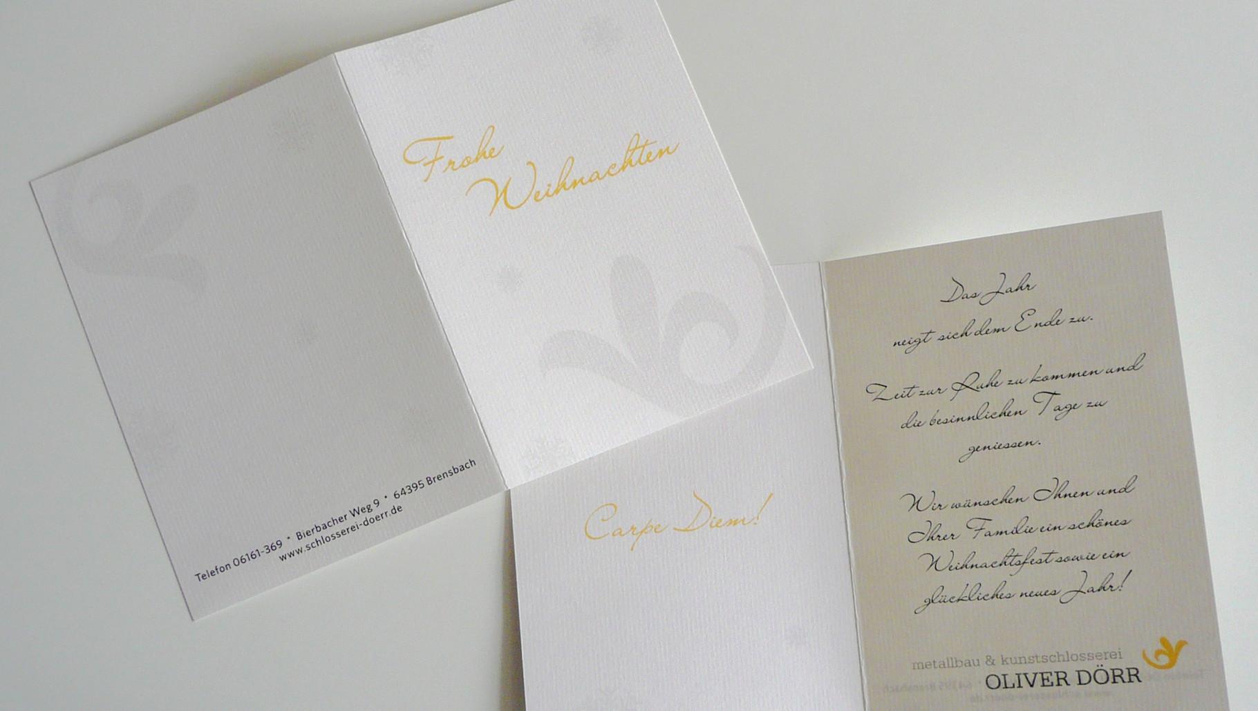 Logo, Logoentwicklung, Grafikdesign, Grafik, Gestaltung, Metallbau Dörr Weihnachtskarte