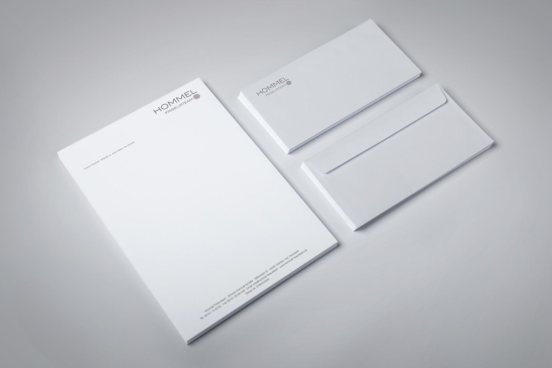 Corporate Design, Logoentwicklung, Logo, Grafikdesign, Grafik, Gestaltung, Hommel Briefpapier