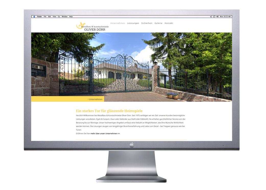 Logo, Logoentwicklung, Grafikdesign, Grafik, Gestaltung, Metallbau Dörr Website