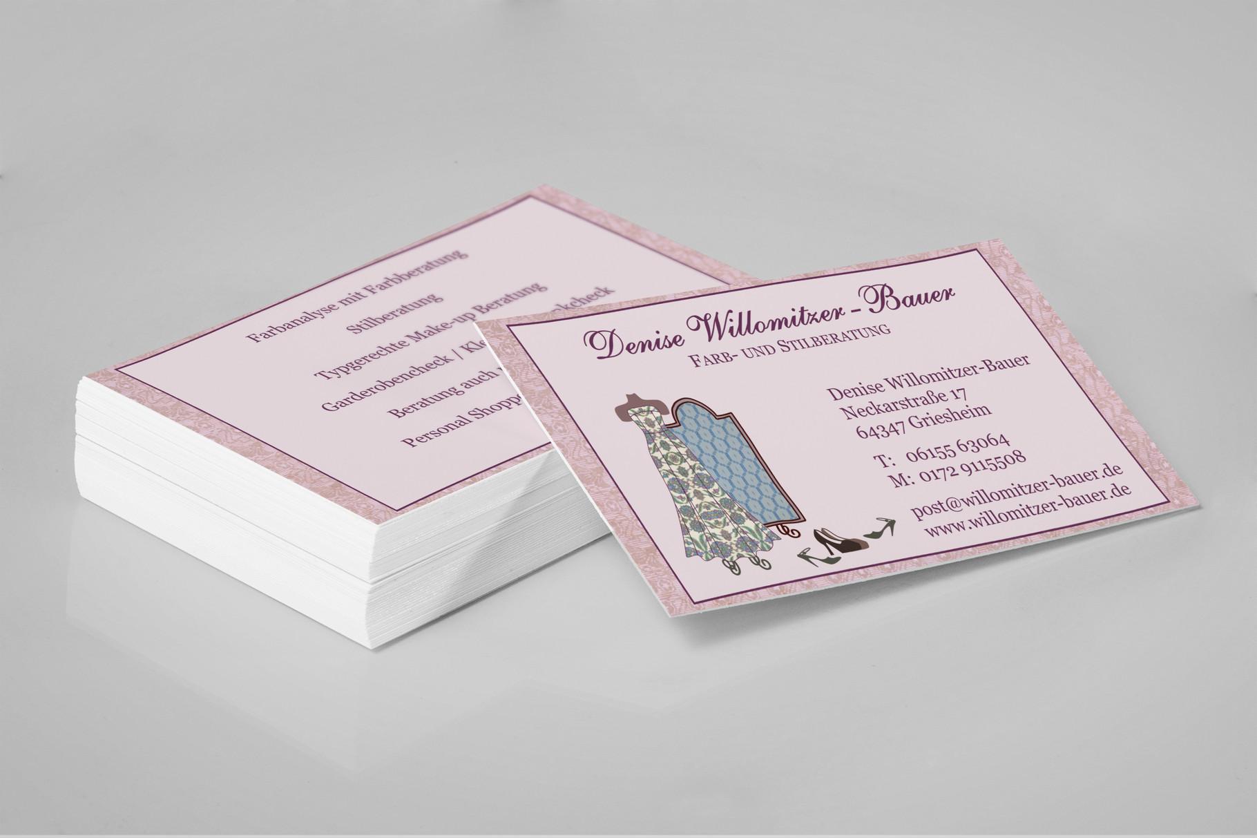 Grafikdesign, Grafik, Gestaltung, Illustration, Willomitzer-Bauer Visitenkarten