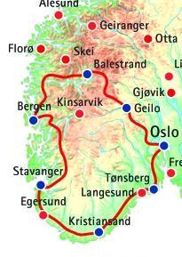Südnorwegen-Rundreise