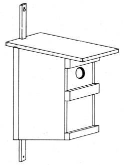 Holz-Nisthilfen: Halbhöhle / Meisenkasten 10 EUR