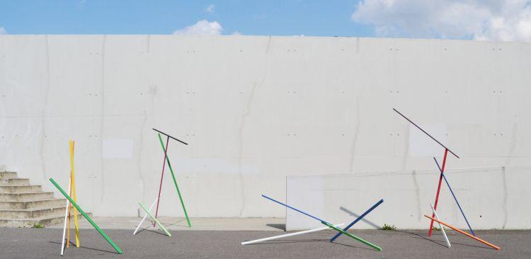 """Holzlattenkonstruktion 3"", 2014"