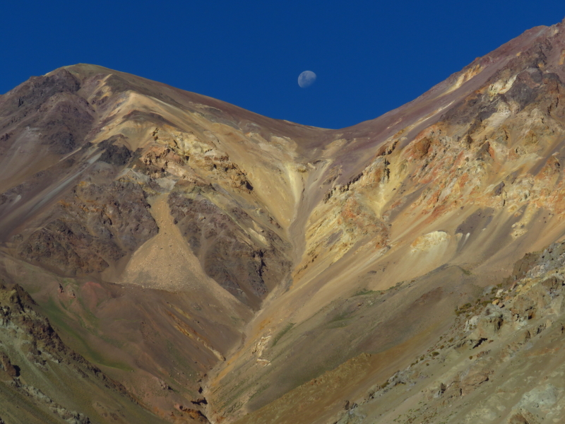 der Mond, la luna schaut auch bereits zu uns runter