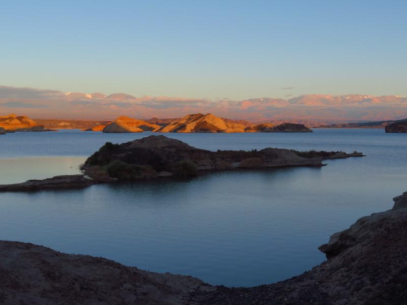 Abendstimmung am Lago Cuesta del viento