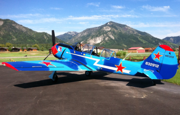 Awesome Yak 52 in for a conditional inspection at Lawson Aero