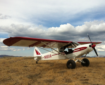 '51 Piper Super Cub restored at Lawson Aero in Afton Wyoming