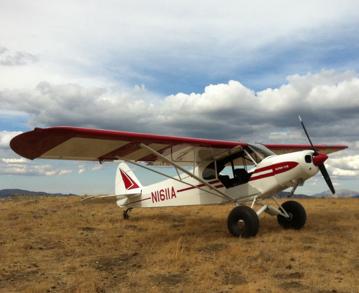 '51 Piper Super Cub restored at Lawson Aero in Afton Wyoming