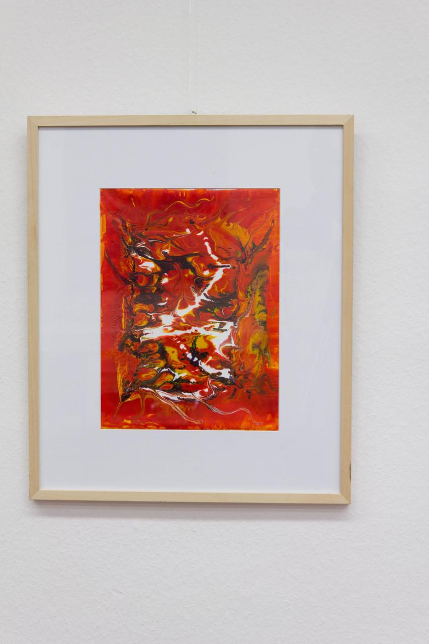 Nr. 61 Dietmar Krause Acryl auf Papier, 50 x 70cm gerahmt