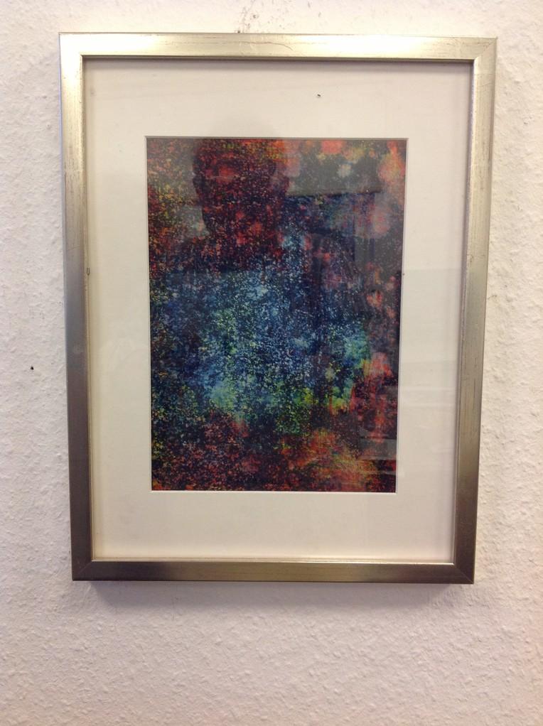 Dietmar Krause, Acryl auf Papier, ca. 30 x 40cm inkl. Rahmen