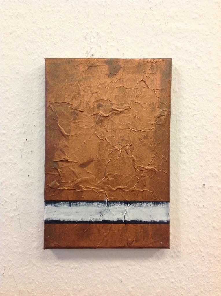 Dietmar Krause, Acryl und Flüssigmetall, teils oxidiert auf Leinwand, 20x 30cm